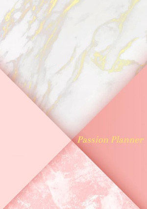 Passion Planner-12 maanden- wekelijks - A5- Zachte kaft-Marmer Goud- Allets Comfort