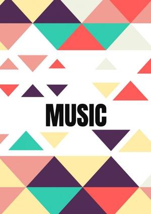Gitaarakkoorden- Gitaartabs Notenschrift- Bladmuziek (A5) Color Text Music- Allets Comfort