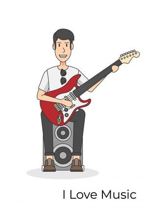 Gitaarakkoorden- Gitaartabs Notenschrift- Bladmuziek (A4) Man Guitar- Allets Comfort