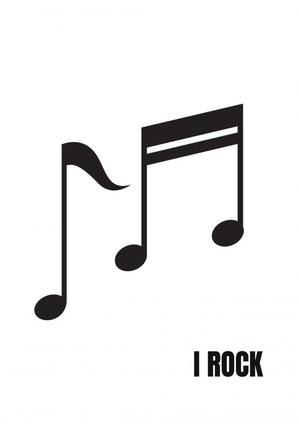 Gitaarakkoorden- Gitaartabs Notenschrift- Bladmuziek (A4) Round Note Zwart-wit- Allets Comfort
