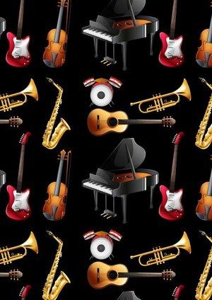 Gitaarakkoorden- Gitaartabs Notenschrift- Bladmuziek (A4) Colorful Instrument- Allets Comfort