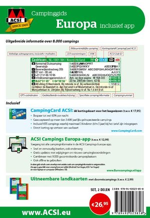ACSI Campinggids Europa + app 2020