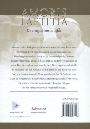 Amoris Laetitia van de heilige vader Fraciscus