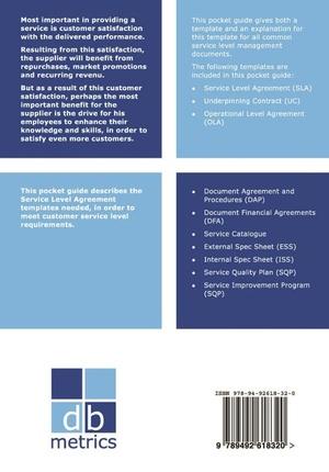 SLA Templates - Pocket Guide