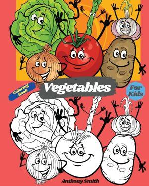 Vegetables Coloring Book For Kids